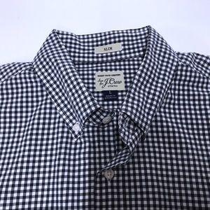 Men's J.Crew Slim Navy & White Check Slim Shirt